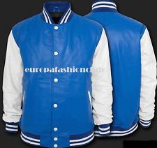 Full Leather Varsity  Baseball Royal Blue & white  Letterman Jacket