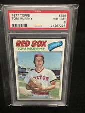 Tom Murphy 1977 Topps #396 PSA 8 NM-MT Pop 21 Red Sox Centered ~