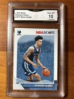 2019-20 Panini NBA Hoops Brandon Clarke Winter RC GEM Mint 10 Memphis Grizzlies
