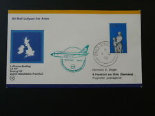first flight cover 1972 Dublin Ireland to Frankfurt Boeing 737 Lufthansa 87888