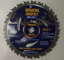 "Irwin 24035 Weldtec  7-1/4"" x 24 Carbide Tooth Circular Saw Blade"