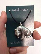 Colgante De Plata Collar Panda Peltre Astral mano hecha a mano Reino Unido Acabado Nuevo