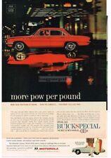 1961 Buick SPECIAL Red 4-door Sedan Night Scene Reflection VTG PRINT AD