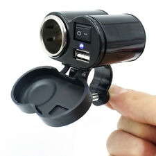 Motorrad Zigarettenanzünder USB Buchse Steckdose Lenker 12 V wasserdicht**