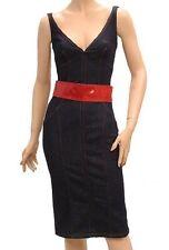 NWT $425 D&G ~Dolce & Gabbana Denim Blue Sleeveless Summer Dress 42(US6 ~ small)