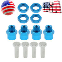 4pcs 12mm to 17mm Wheel Hex Hub Conversion Adapter for 1/10 RC Car Upgrade Parts