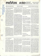 Revox  Service Manual für A 50 mehrsprachig Copy