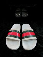 Gucci Sliders Men's White Sandals Flip Flops Size 8 G or US 9.5