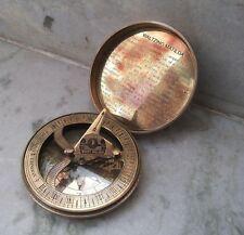 "Jacko Boot Polish Brass Sundial Compass Darktan Stain Dollond London 3.25"""
