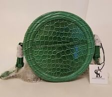 New Snob Essentials Designer Aubergine Round Crossbody Bag Green $88 Retail