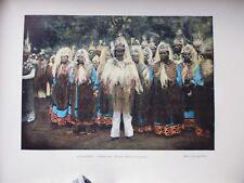 OCEANIE:Gravure 19°in folio couleur/ Himénés aux Tuamotu:fête du 14 juillet