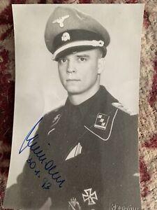 WW2 German Waffen SS Panzer Officer Signed Photograph