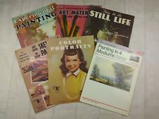 Lot Of 6 Walter Foster How To Art Books Paint Draw Still Life Portraits Landscap