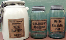 Primitive Fall Harvest Farmhouse Pantry 32 Labels