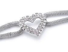 Womens Ladies Silver Rhinestone Belt Waist Chain Diamante Diamonds Buckle 546