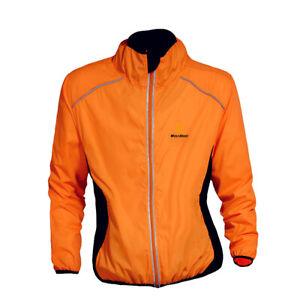Men Windproof Cycling Jacket High Visibility Breathable MTB Bike Racing Top Coat