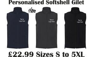 Personalised Printed Softshell Gilet Custom Logo Workwear Printing S-4XL