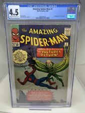 Marvel Comics Amazing Spider-Man #7 1963 CGC 4.5 2nd Appearance Vulture