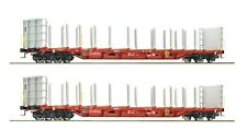 Roco HO scale Set of 2 cars for timber transport OBB