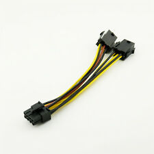 PCI-E 8-pin Male to 2x 6-pin Female Graphics Video Card Power Cable PCI Express