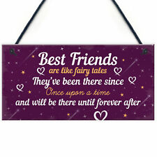 Birthday Gifts For Best Friend Hanging Plaque Christmas Card Gift THANK YOU Sign