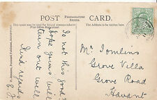 Genealogy Postcard - Family History - Tomlins - Grove Road - Havant  BH4587