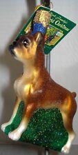 Dog Ornament Glass Boxer Old World Christmas 12304 7