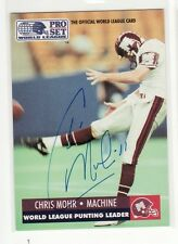 CHRIS MOHR SIGNED MONTREAL MACHINE FOOTBALL CARD PUNTER