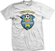 Uruguay AUF Uruguayan Football Association Soccer World Cup Shield- Mens T-shirt
