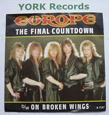 "EUROPE - The Final Countdown - Excellent Condition 7"" Single Epic A 7127"