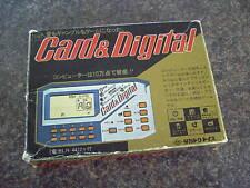 CARD & DIGITAL FORTUNE TELLER HANDHELD LCD GAME 1980s RARE VINTAGE RETRO