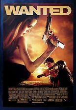 WANTED * CineMasterpieces ORIGINAL MOVIE POSTER ANGELINA JOLIE GUNS GUN 2008