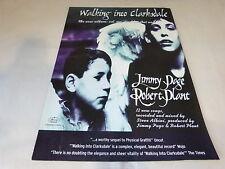 ROBERT PLANT & JIMMY PAGE Publicité de magazine / Advert WALKING INTO CLARKSDALE