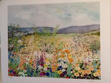 FINE ART LITHOGRAPH: Greenfield With Flowers #7/200. Artist Pencil Signed 23x21