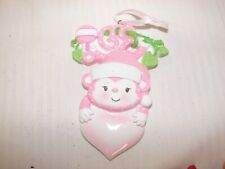 Baby Girl Monkey Personalized CHRISTMAS ORNAMENT
