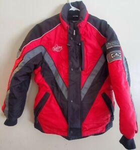 Women's CHOKO Design Snowmobile Trailmaster Jacket Red Black Small 3M