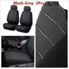 Front Seat Covers For Car SUV - Universal Breathable Protectors Black Gray X2