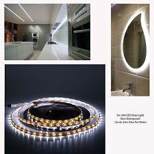 5m LED Tira de Luz del Gabinete Blanco Frío 300 Leds 12v DC 24w no impermeable