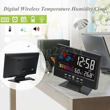 Digital Alarm Clock Thermometer Hygrometer Calendar LCD Weather Forecast Travel