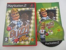 BUZZ ! LE QUIZ DU SPORT - SONY PLAYSTATION 2 - JEU PS2 PAL Fr COMPLET
