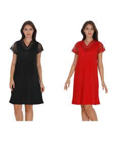 Ladies Womens Half Slevee Chemise Short Nightdress Nighty Nightshirt 6301