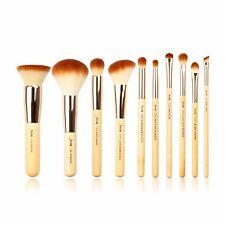 Jessup 10pcs Bamboo Makeup Brush Set Cosmetic Brushes Kits Make up Tools T136 US