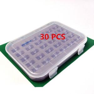 30 Clear Concave Bobbins W/ Box For Viking 1,1+,Husqvarna Viking 1100 #4120975-4