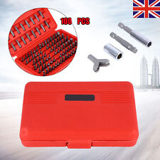 100pcs Chrome Security Bit Tool Set Kit Torx Hex Drill Star Spanner Screw Driver