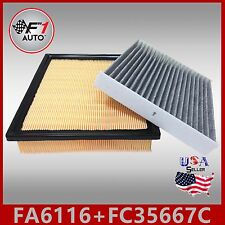 FA6116 FC35667C(CARBON) ENGINE & CABIN AIR FILTER for 11-17 SIENNA & 10-15 RX350