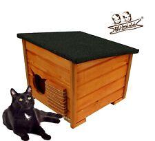 Bliźniaki DOMKOT1 Katzenhaus  Indoor/Outdoor wetterfest Holz kleine Hunde Katzen