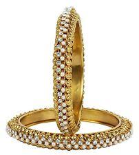 Indian Gold plated Wedding Party Kada Bracelets Traditional Bangle Jewelry