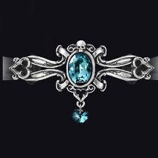 Alchemy Gothic dogaressa Gargantilla. Azul Cristal Swarovski Corazón. Nueva versión!