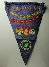 """British camping club National Feast of Lanterns 1958 Clumber pennant 12"""""""