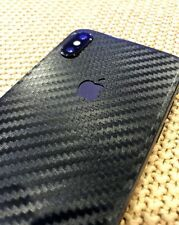 Apple iPhone X iPhone 10 Decal Skin by Avantelle - Black Carbon Fiber
